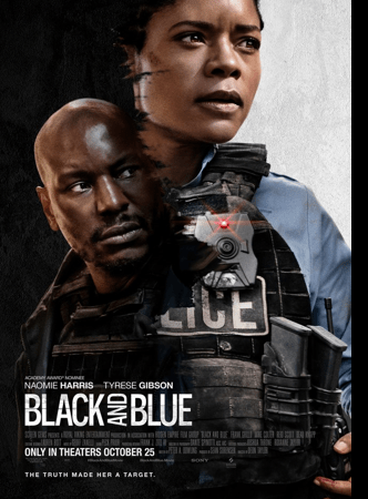 black and blue movie poster