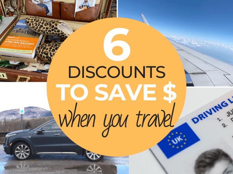 travel discounts to save money