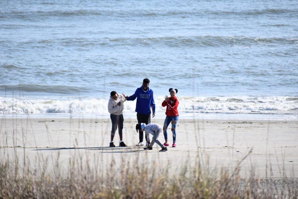 Brown Skin kids enjoy Myrtle Beach in November for Thanksgiving