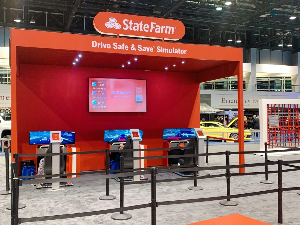 State Farm Drive and Save Simulator at Chicago Auto Show Interactive Experience