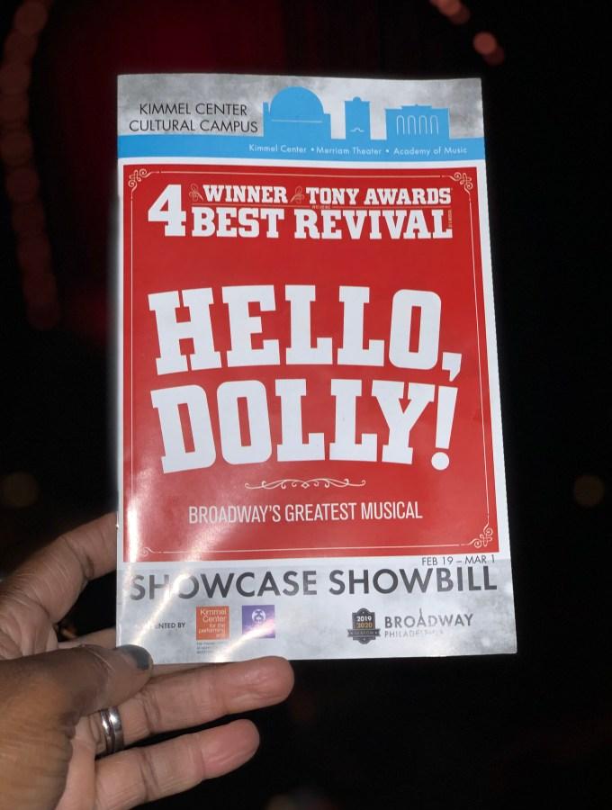 hello dolly Philadelphia musical playbill