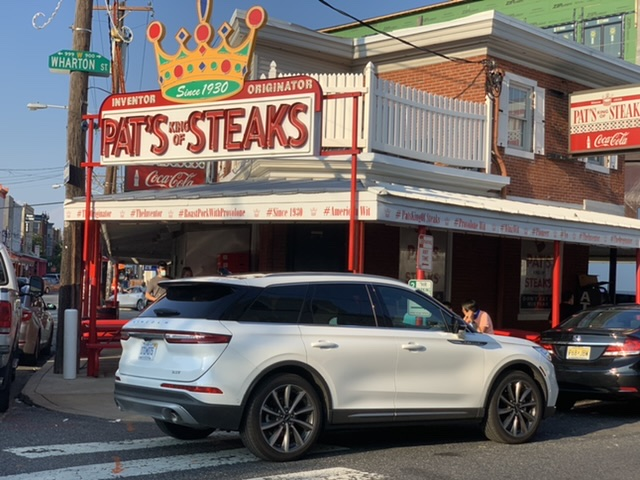 East Passyunk Philly Stroll Lincoln Corsair  Pat's Cheesesteaks