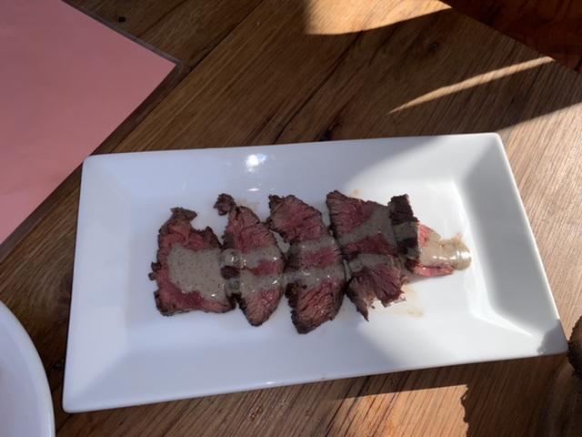 Grilled hanger steak Barcelona wine bar east passyunk philly