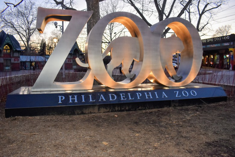 Philadelphia Zoo welcome sign for Philly Family fun guide