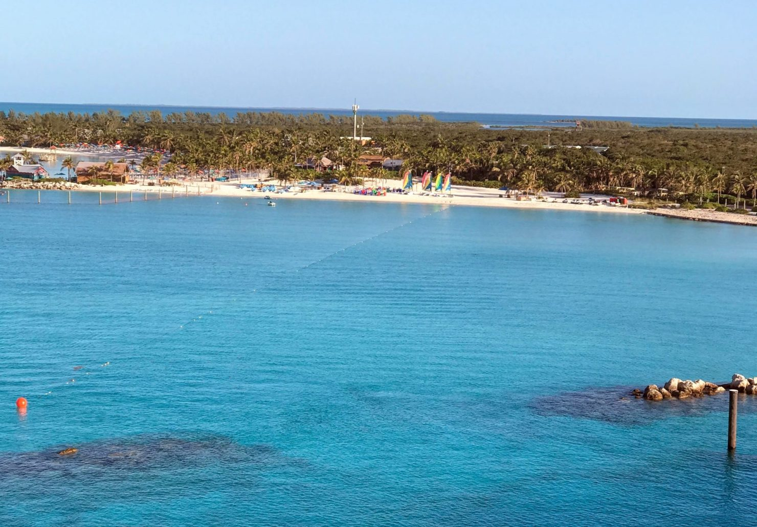 sky view of beach