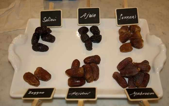 types of dates in saudi arabia