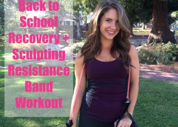Back to School Recover Resistance Band Workout - Triceps Kickback - life in spandex