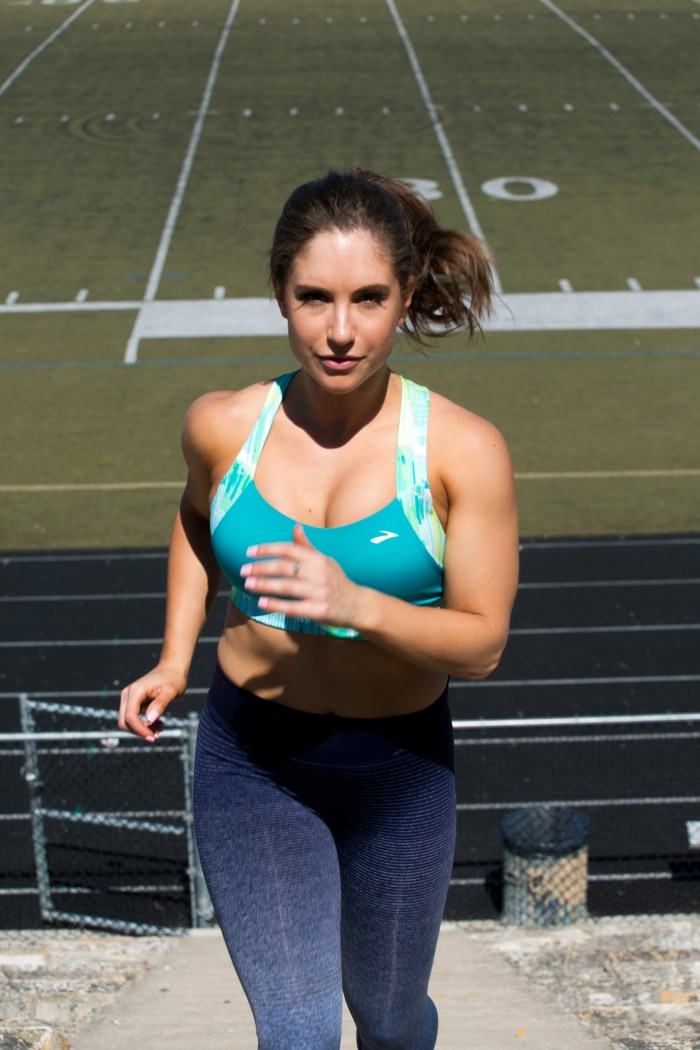 running shoes and sports bras for your body type