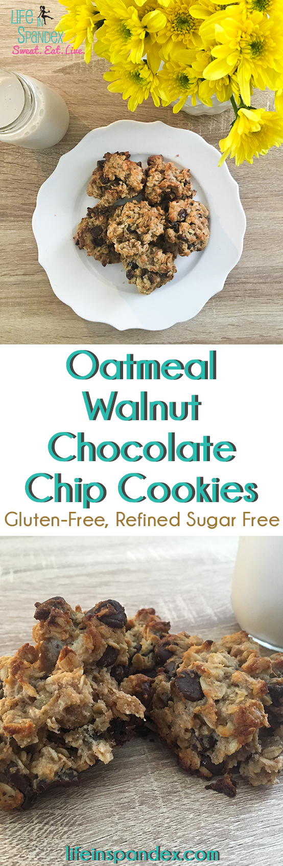 oatmeal walnut chocolate chip cookies pinterest