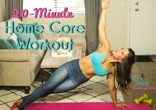 20 Minute Home Core Workout