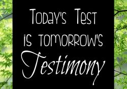 Let your test today be your testimony tomorrow
