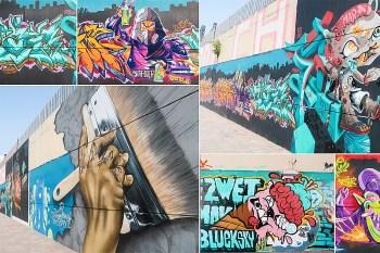 【台南景點】台南火車鐵軌下的嘻哈彩繪牆~四維地下道彩繪