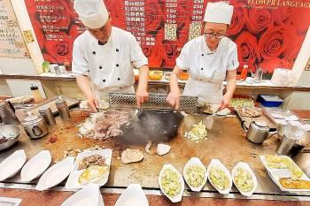 【台南美食】成大人必吃鐵板燒|育樂街鐵板燒老店|套餐附蛋蜜汁|特餐100元白飯湯品吃到飽~花語鐵板燒