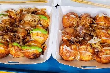 【臺南美食】三輪車章魚燒在這裡 加了三種料和五種口味 可電話預約 一份40元起 買兩份享折扣 慶南街美食~~大阪城章魚燒三輪車