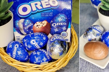 【超商甜點】不用再找代購台灣就有了|OREO出奇蛋?|聖誕節好應景~~超萌OREO夾心巧克力蛋