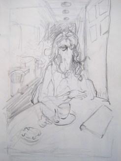 Portrait in Cafe Slavia