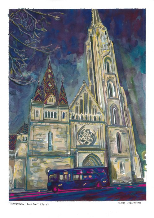 Budapest-Cathedral-Gouache-2017