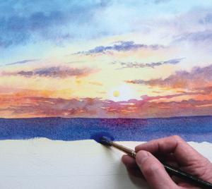 skywatercolour image