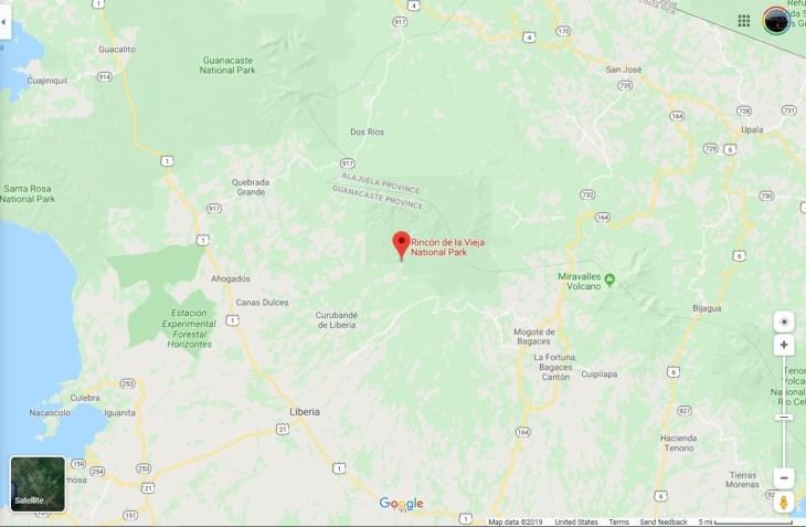 map showing location of Rincon de la Vieaja