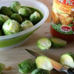 Fresh Brussels sprouts and Chili Sauce