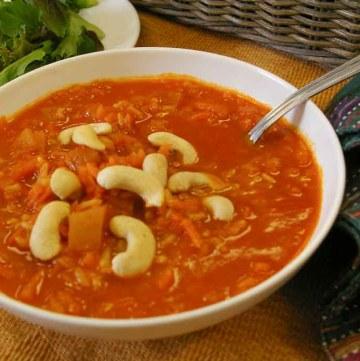 Carrot Cashew Soup