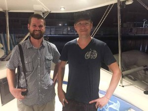 Matt and Scott from the Steamboat Pilot stop by for dinner