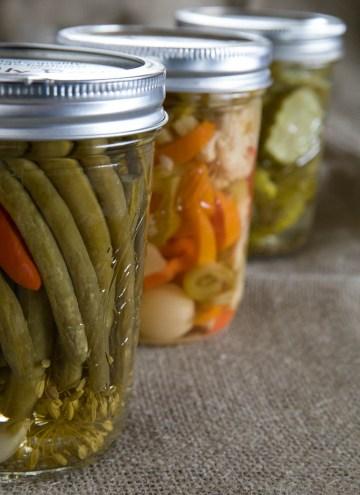 home pickled jars