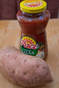 Sweet potato and salsa