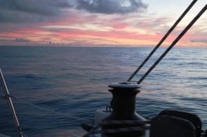Sunset over the Gulf Stream