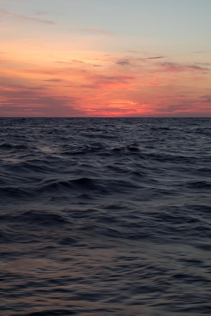 Offshore sunset