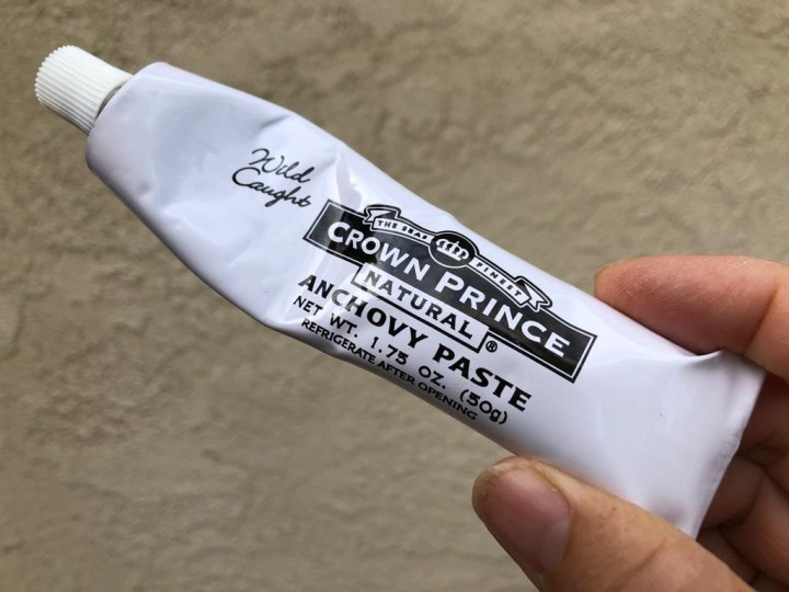 tube of anchovy paste