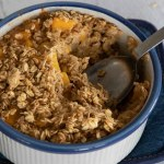 Hot Baked Peach Oatmeal