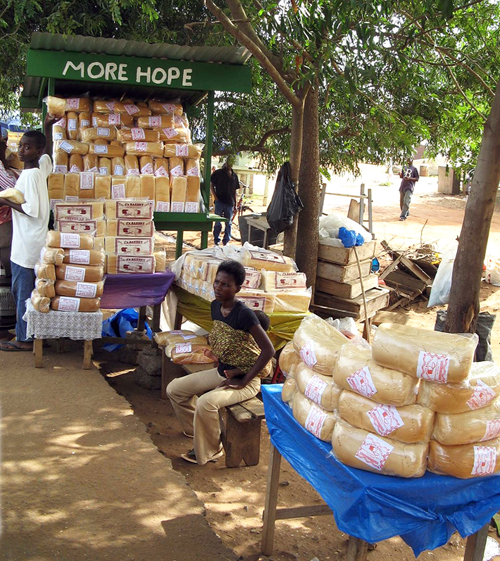 Ghanaian bread by the road