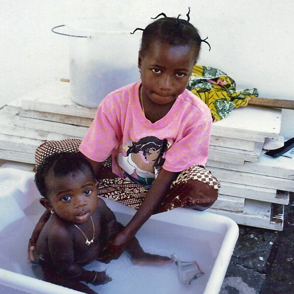 Ghanaian Baby Gets a Bath