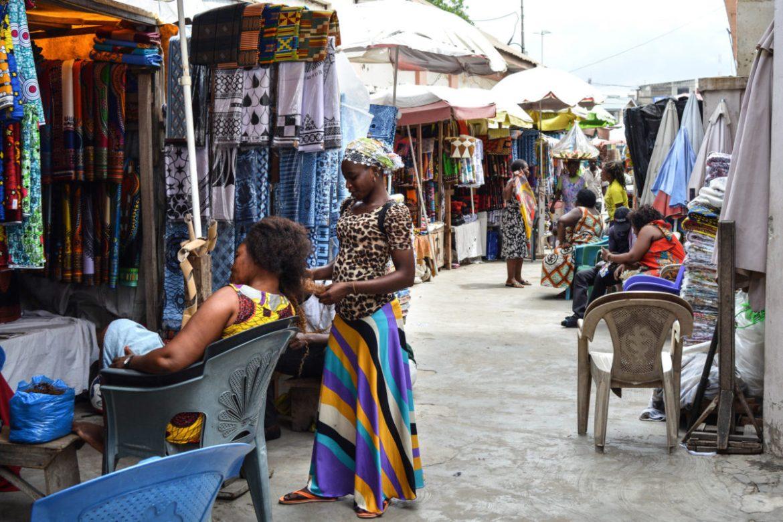 Makola Market Hair Braiding