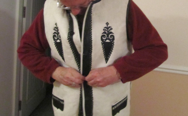 Moldovan sheep's skin vest