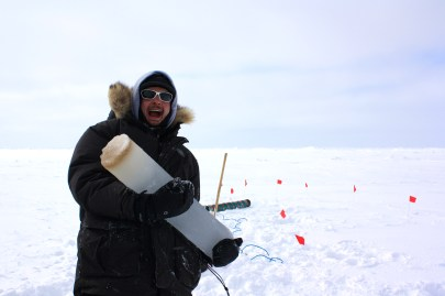 Kyle Kinzler is a first year graduate student at Arizona State University in the lab of Susanne Neuer, one of Andy Juhl's collaborator's on our project. Kyle studies microorganisms in the sea ice to determine yearly diversity in the Arctic sea ice community.