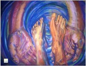 foot washing art
