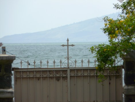 A view of the Sea of Galilee near Peter's house in Capernaum.