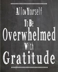 Overwhelmed with gratitude