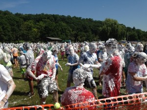 Controlled chaos:  shaving cream war at Great Escape