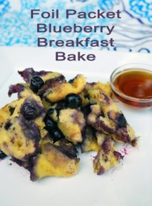 Foil Packet Blueberry Breakfast Bake from Terra Firma Adventures