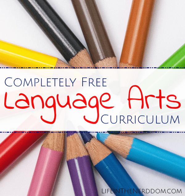 Free Language Arts Curriculum Life In The Nerddom