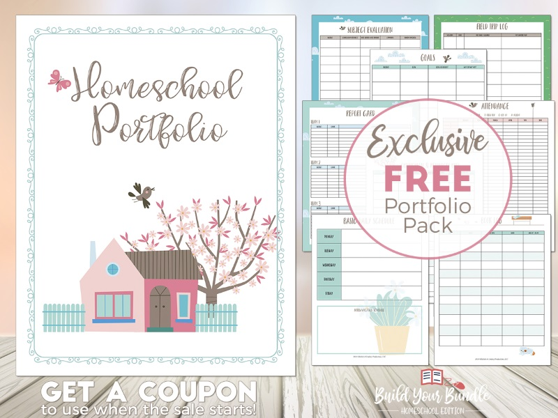 photograph about Printable Portfolio Template identify Absolutely free Printable Homeschool Portfolio - Daily life within just the Nerddom