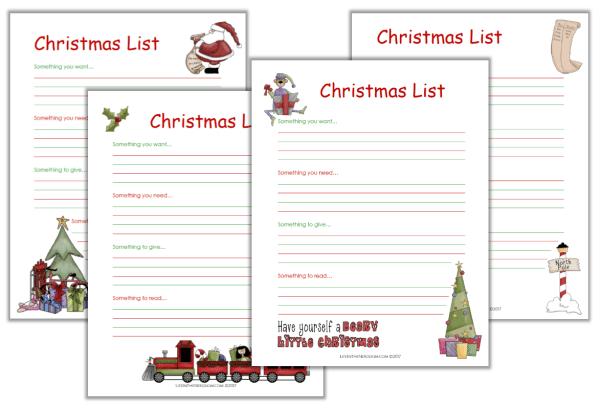 Printable Christmas List Pack