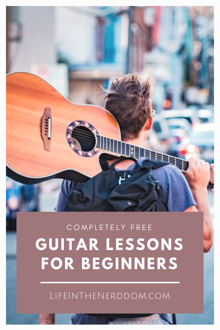 Completely FREE Guitar Lessons for Beginners at LifeInTheNerddom.com
