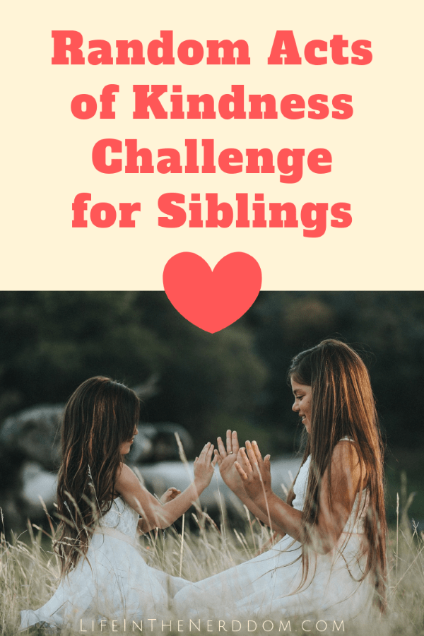 Random Acts of Kindness Challenge for Siblings at LifeInTheNerddom.com