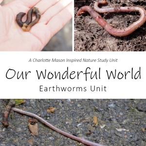 Our Wonderful World: Earthworms Unit Nature Study at LifeInTheNerddom.com