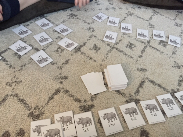 My Teaching Library - Stomped Multiplication Game at LifeInTheNerddom.com