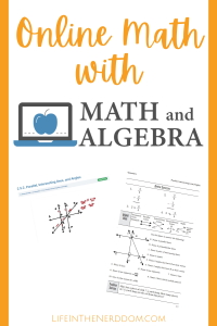 Online Math with MathandAlgebra.com at LifeInTheNerddom.com
